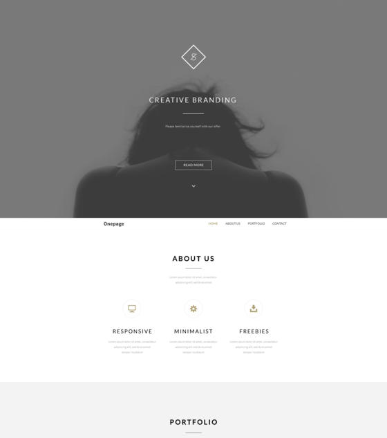 Onepage by Thomsoon