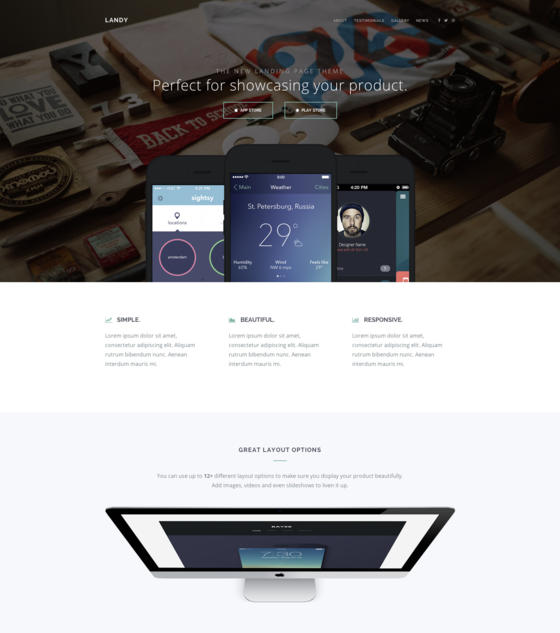 Landy by Playnethemes