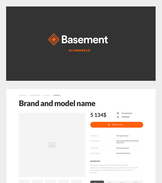 Basement - Ecommerce by Great SImple