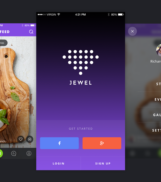 Jewel iOS UI Kit by Ionut Zamfir