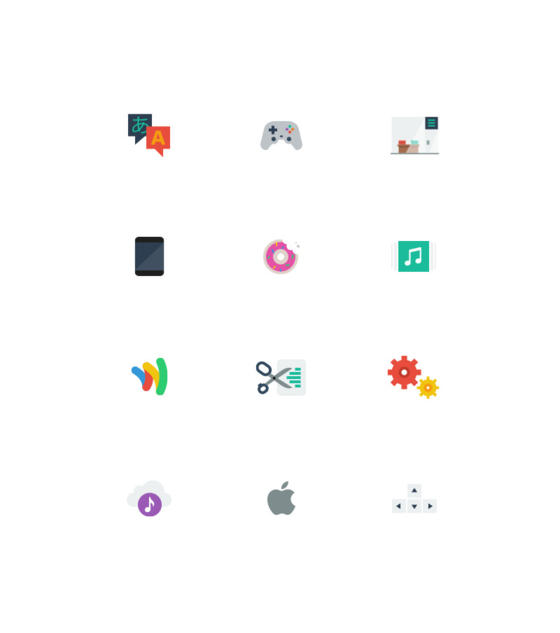Flat Icons by Hello Many